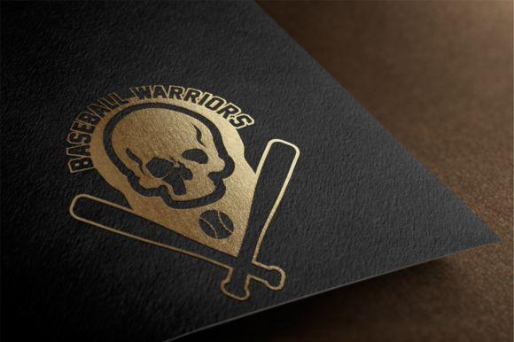BaseBall Warriors Team Logo Design by Florin Chitic on Creative Market