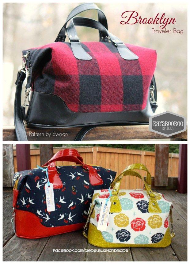 Brooklyn Handbag Traveler Bag Sewing Pattern Bags To