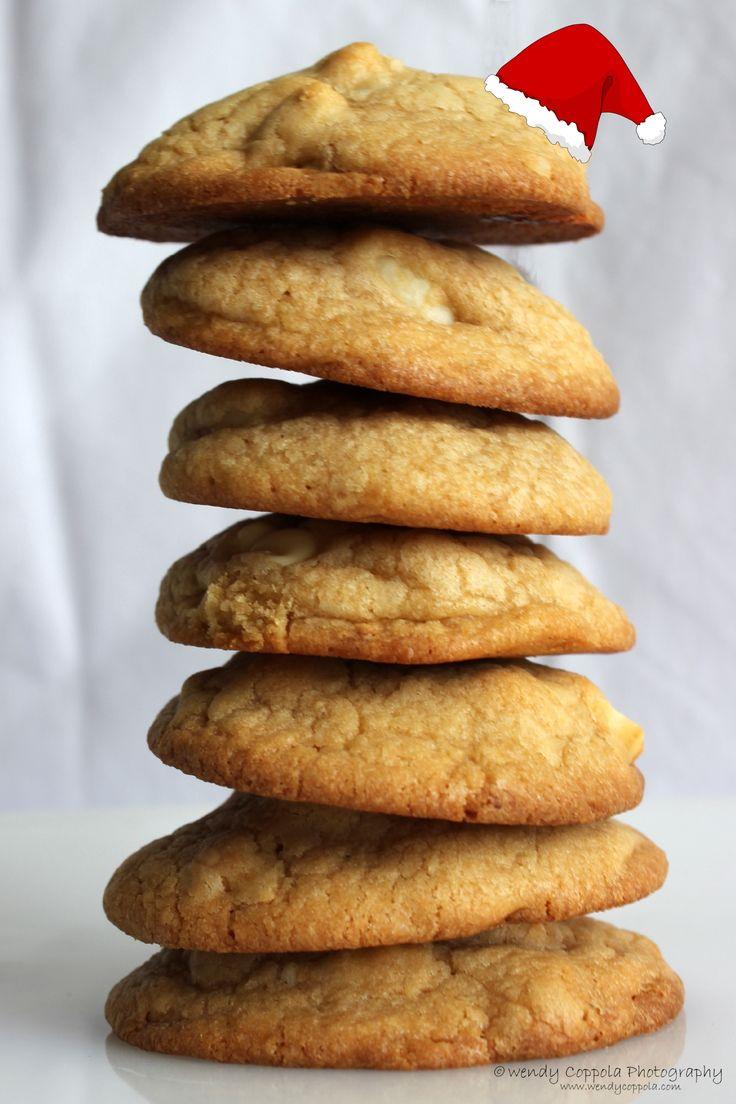 Santa Cookies - White chocolate macadamia nut cookies for Santa. www.wendycoppola.com