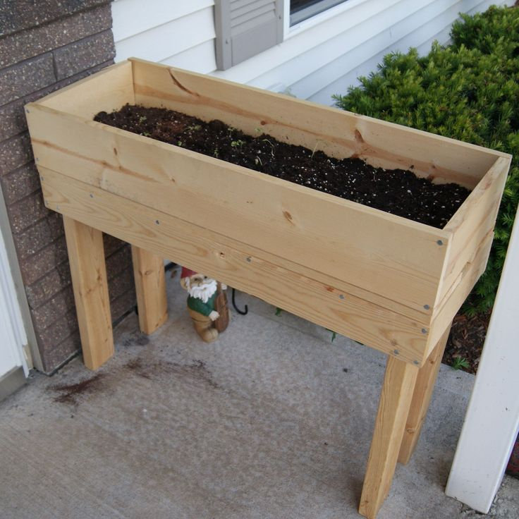 Furniture: Simple Minimalist DIY Wooden Raised Planter Box On Terrace. Planter Box Liners Plastic, Brick Planter Box Ideas, DIY Planter Box, Planter Boxes Plans Do It Yourself, Planter Box Flower Ideas. Fabulous Planter Box Ideas For Gardening | Beeboats