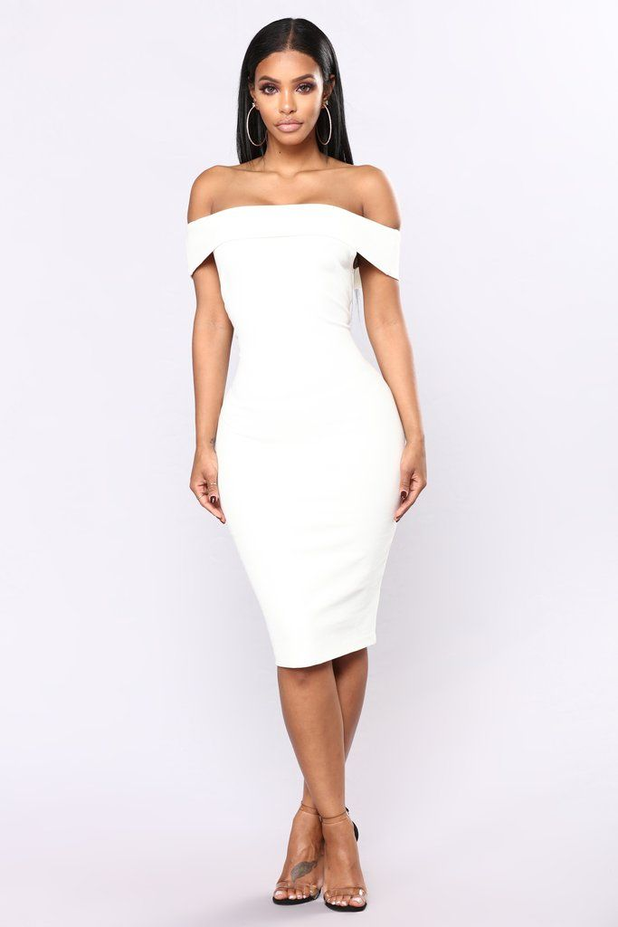 678bc5ab6e3 Chantal Off Shoulder Dress - White in 2019 | Chic! | White dress ...