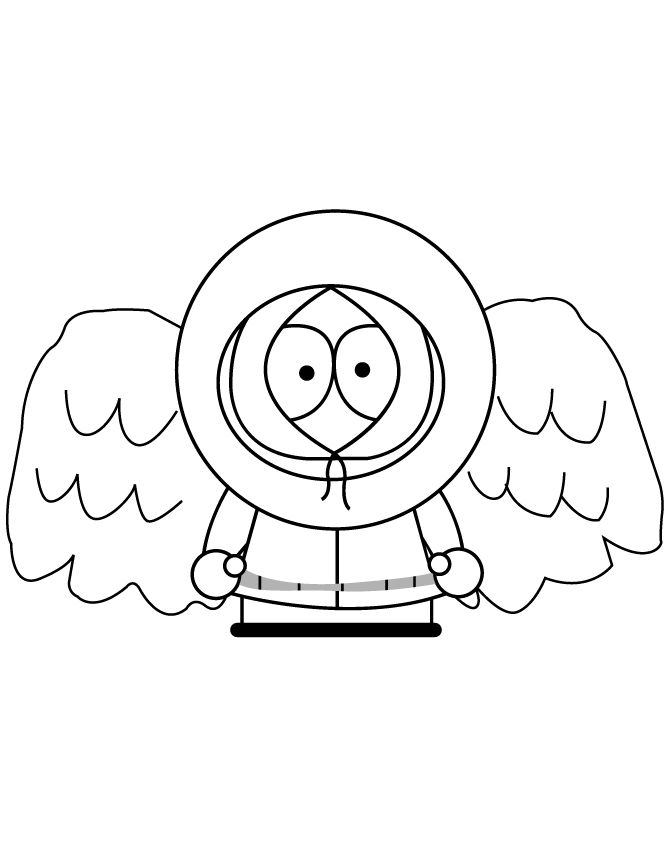 South Park Kenny With Angel Wings Coloring Page | Free Printable ...
