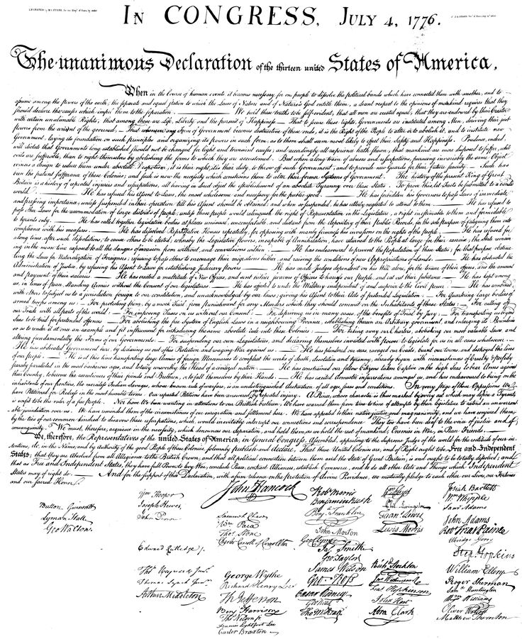 Magic image pertaining to printable declaration of independence text