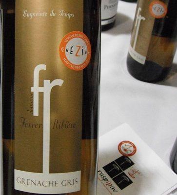 HIPPOVINO: Ferrer Ribière Grenache Gris Empreinte du temps – Importation Privée de la semaine - vin blanc - France - Roussillon
