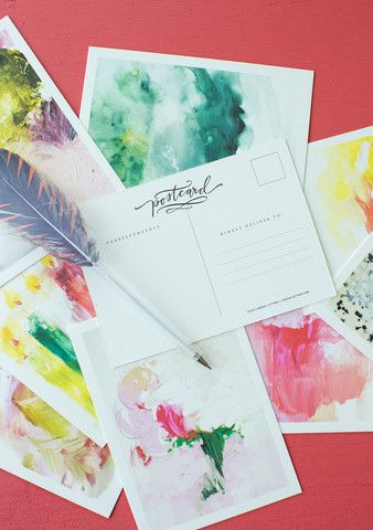 Abstract Postcards by Lindsay Letters. $20 for 12
