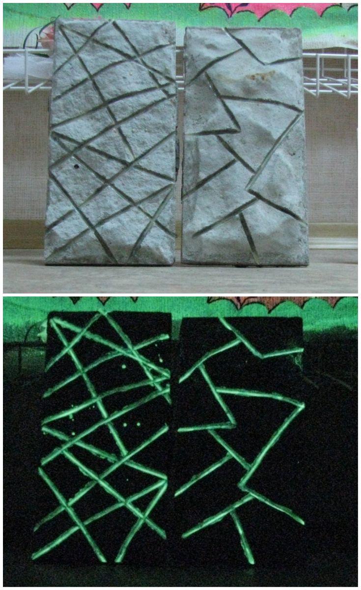 Светящаяся краска для бетонных и каменных поверхностей ***** Luminous paint for concrete and stone surfaces #светящаяся #краска #бетон #камень #luminous #paint #concrete #stone