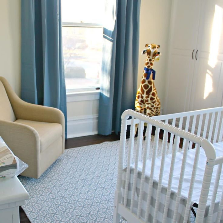 Mommy to be @sarah_702parkproject used our Poseidon Blue Blackout Curtain for her baby boy's nursery.  FYI: This is just the beginning. We can't wait to see the finished product!