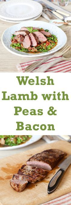 This recipe for a tender loin of lamb with a classic combination of peas, lettuce and bacon, makes a perfect spring supper.