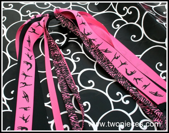 Two Nieces Gymnast Dancer Pony O Streamer by TwoNieces on Etsy, $6.00Hair Style, Hair Bows, Niece Hair