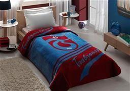 Taç Lisanslı Tek Kişilik Trabzonspor Logo Battaniye