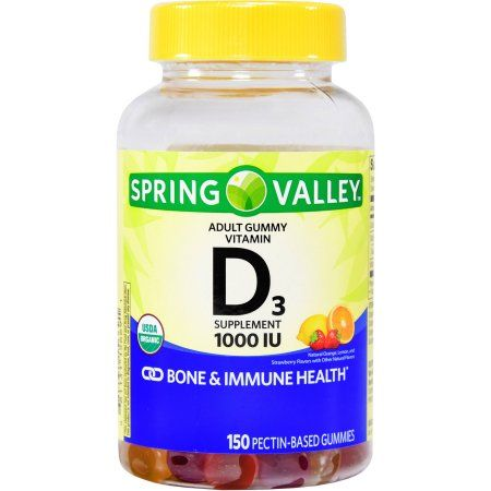 Spring Valley Vitamin D3 Adult Gummies, 1000 IU, 150 Ct