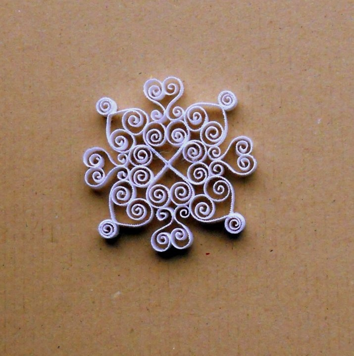 Quilling keeps me sane.  3 inch quilled snowflake.