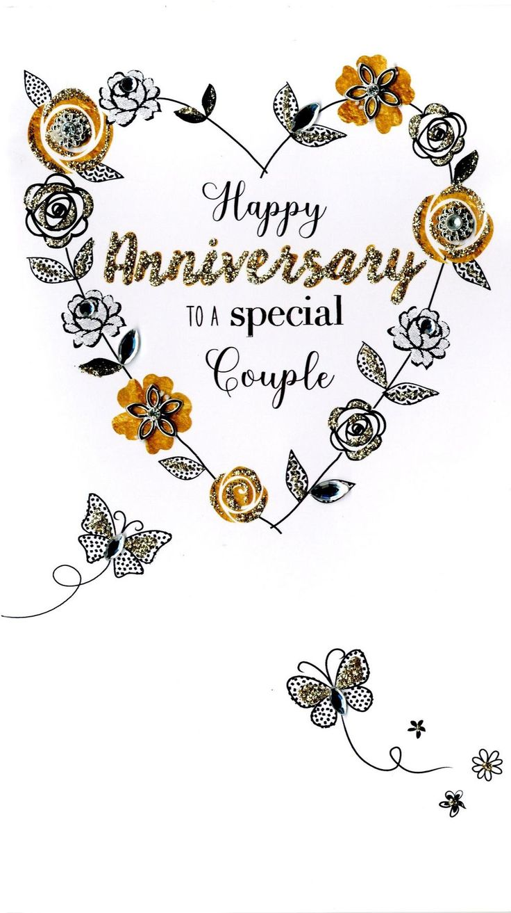 Special Couple Anniversary Greeting Card Happy