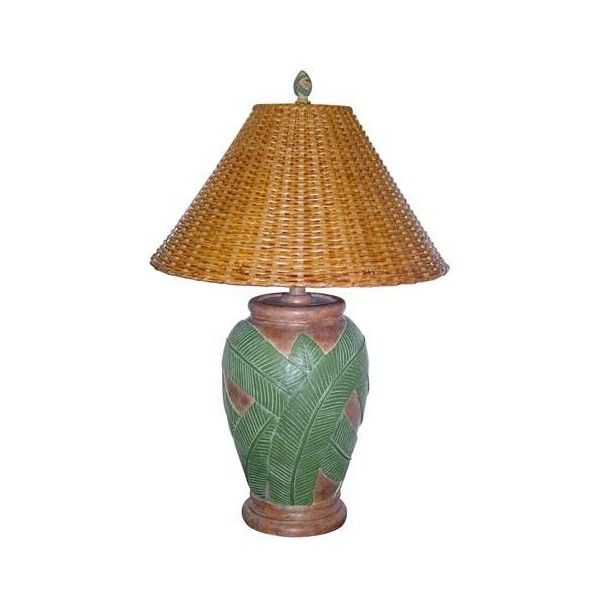 Papila Design Tropical Desert Sand Table Lamp ($159) ❤ liked on Polyvore featuring home, lighting, table lamps, tropical lighting, tropical table lamps and tropical lamps