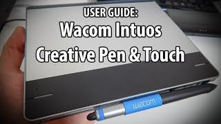 How To Use Wacom Intuos Pen and Touch Tablet - YouTube