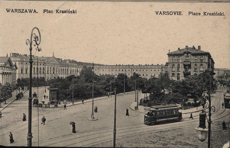 Warszawa przedwojenna - plac Krasinskich