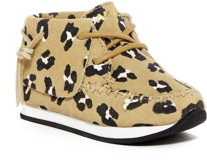 AKID Stone Leopard Print Sneaker (Toddler & Little Kid)
