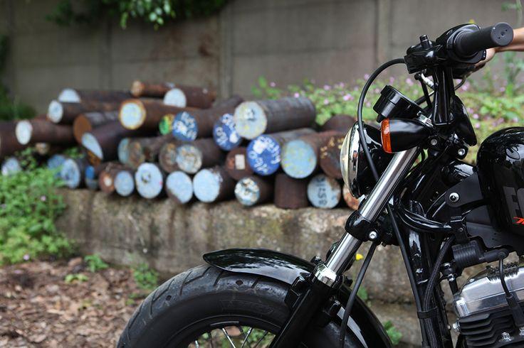 DIY - changer de guidon sur une Harley - To the bones