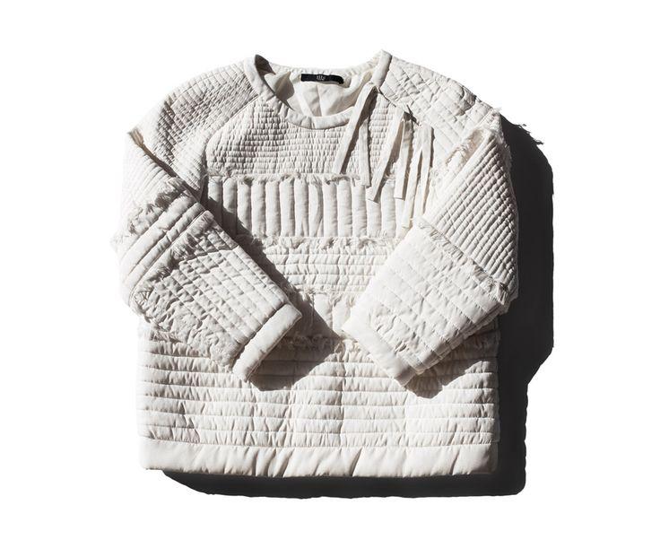 Tibi Quilted Sweatshirt