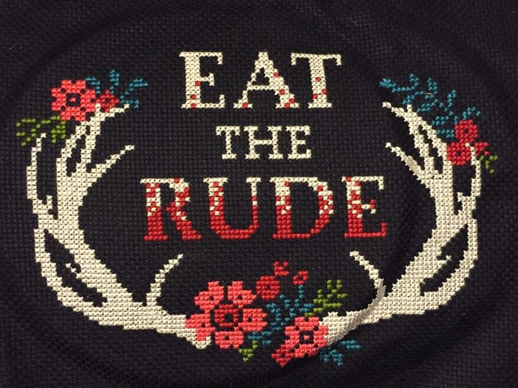 Nevermind the other pins I recently saved...I'm going to pick up cross stitching just so I can make this and other Hannibal related cross stitchings. Hell Yes. --Jen T Cross Stitch Witches