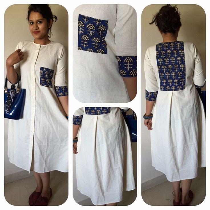 Diy kurta design. Diy dress design. Minus the pocket in front