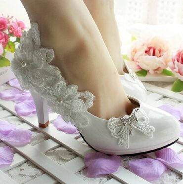 2017 newest design fashion women white wedding shoes bow bowtie flower decoration women's bridal shoes different heels XNX 003
