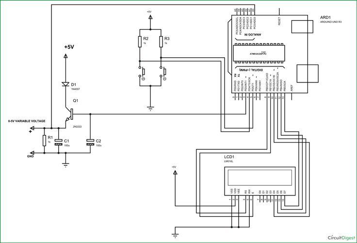 Arduino Variable Power Supply Circuit Diagram