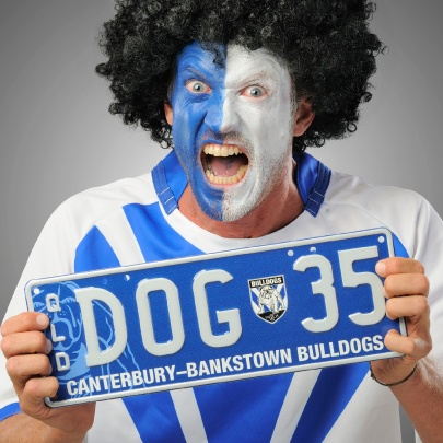 The Personalised Plate for Queensland Canterbury Bankstown Bulldogs supporters. #NRL