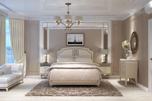 Дизайн квартиры (Стиль: американская классика). Спальня