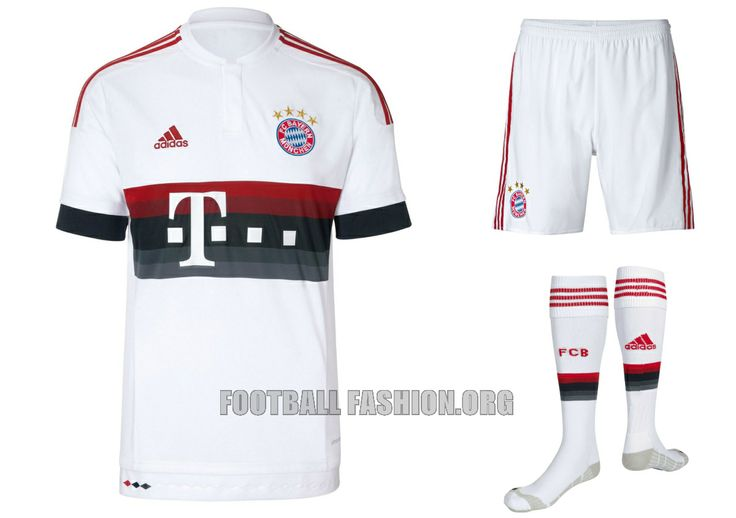 FC Bayern München 2015 2016 adidas White Away Football Kit