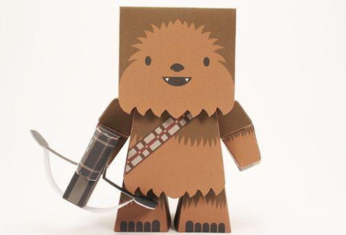 Star Wars - Chewbacca (Cubefold) Free Paper Toy Download - http://www.papercraftsquare.com/star-wars-chewbacca-cubefold-free-paper-toy-download.html#Chewbacca, #Chewie, #StarWars
