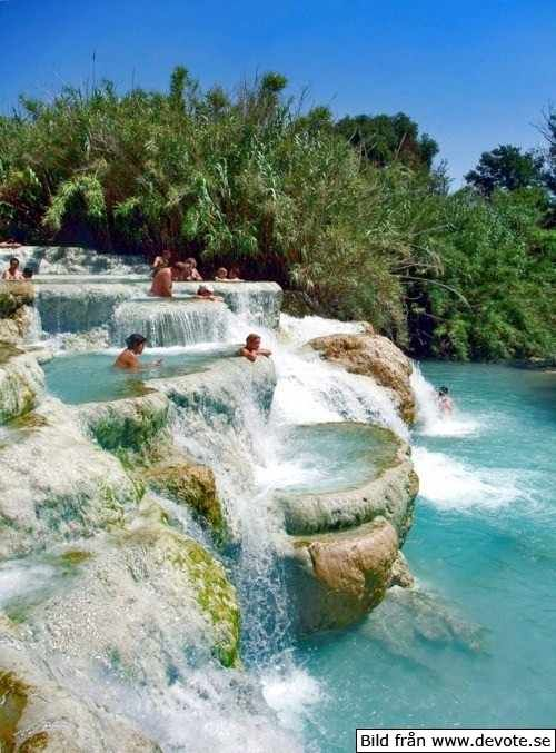 MINERAL BATHS, TUSCANY ITALY Next time I am in Italy I will have to find these.