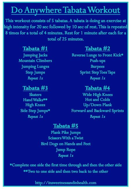 Do Anywhere Tabata Workout
