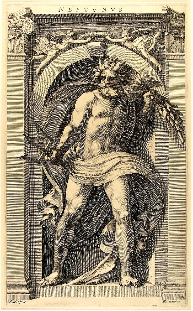 Polidoro da Caravaggio - Neptunus.jpg (1200×1932)