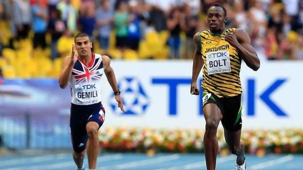 What's it like to race the fastest man in the world?