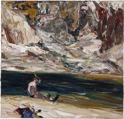Nicholas Harding River figures (flipper and snorkel), 2010 oil on Belgian linen…