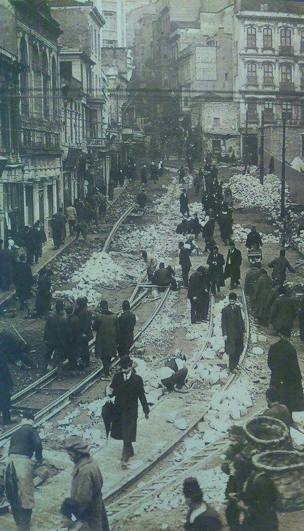 istanbul ray döşeme çalışmaları (1913)
