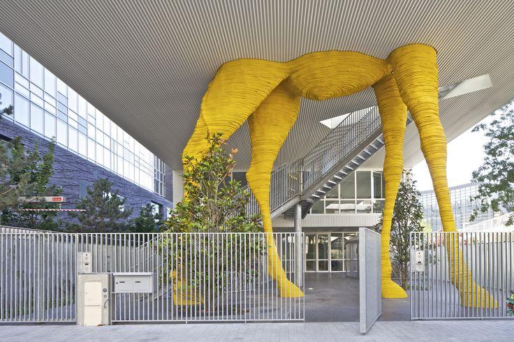 Centro de cuidados infantis Giraffe  / Hondelatte Laporte Architectes © Philippe Ruault