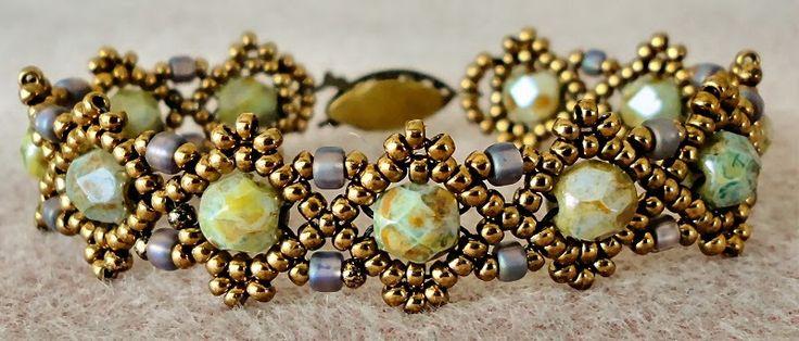 Linda's Crafty Inspirations: Bracelet of the Day: Teejay's Bobble Band Variation