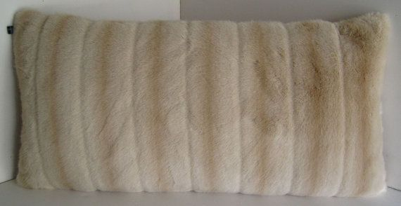 """Beaver Mink Beige Faux Fur Decorative 12x24 by WilhelminaJacobsLA, $59.99 Beaver Mink Beige Faux Fur Decorative 12""""x24"""" Pillow With French Velvet Lining. 10/90 Down-Feather Included  Ask a Question $65.70 AUD"""