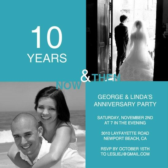 15 Best 10 Year Anniversary Invitations Images On