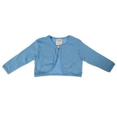 Frugi Παιδική Ζακέτα Μπολερό – Surf Blue - Sunnyside