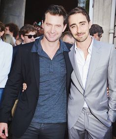 with friend lee pace