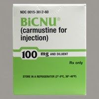 Label for BiCNU (Carmustine)  Carmustine Cuts Alzheimer's Plaque by 75% in Mice