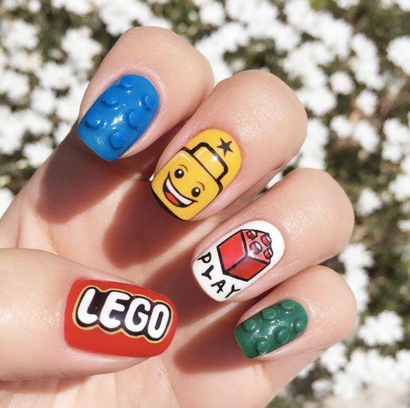 Lego nails by Salon de Lumiere
