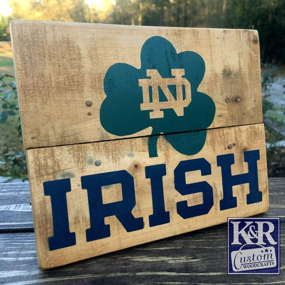 Hey, I found this really awesome Etsy listing at https://www.etsy.com/listing/261096603/notre-dame-sign-fighting-irish-painted