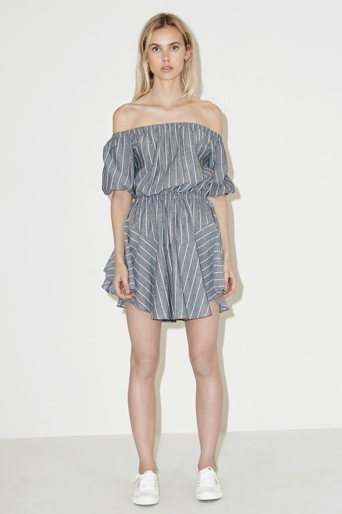 THE FIFTH - Cubic Stripe Dress