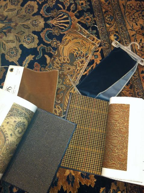 Gorgeous family room color palette - Ralph Lauren. DesignNashville.com is an authorized dealer of Ralph Lauren Fabrics. Cut yardage, custom draperies, bedding, and furniture are available.