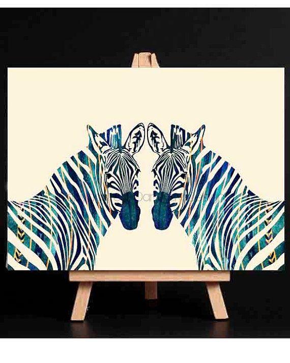 Canvas Wall ArtZebra Canvas Prints Zebra CanvasLarge by DaniJArts