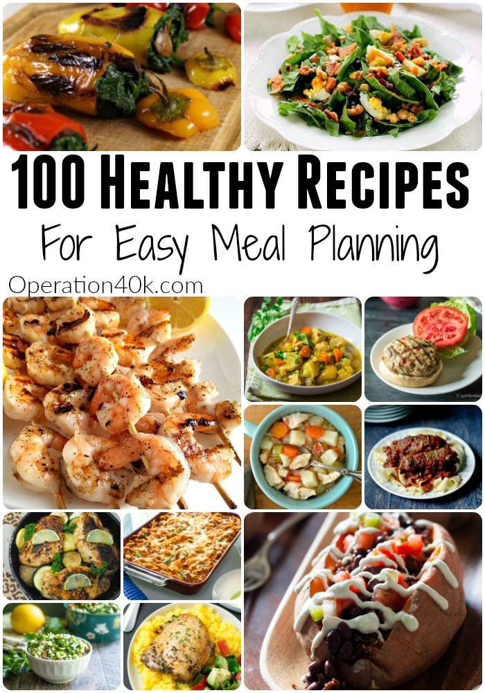 Meal Planning is so much easier with our list of 100 Healthy Recipes For Meal Planning! Gluten-Free Recipes, Weight Watchers Recipes, Paleo Recipes & more!